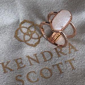 Kendra Scott NWOT Rose Gold & Drusy Ring 7